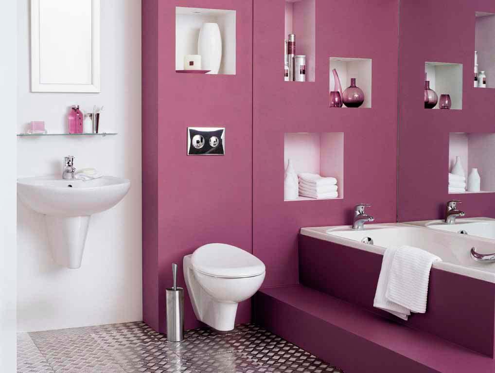 D coration des toilettes id e d co - Idee couleur toilette ...