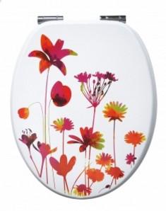 abattant WC fleur