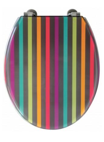 abattant rayure multicolore